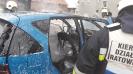 Gorzów Śląski pożar samochodu osobowego
