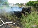 Groźny pożar suchej trawy w Kocurach.