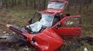 Grożny wypadek na trasie Olesno - kolinia Biskupska_3