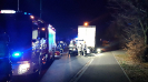 Praszka zderzenie samochodu osobowego z samochodem ciężarowym